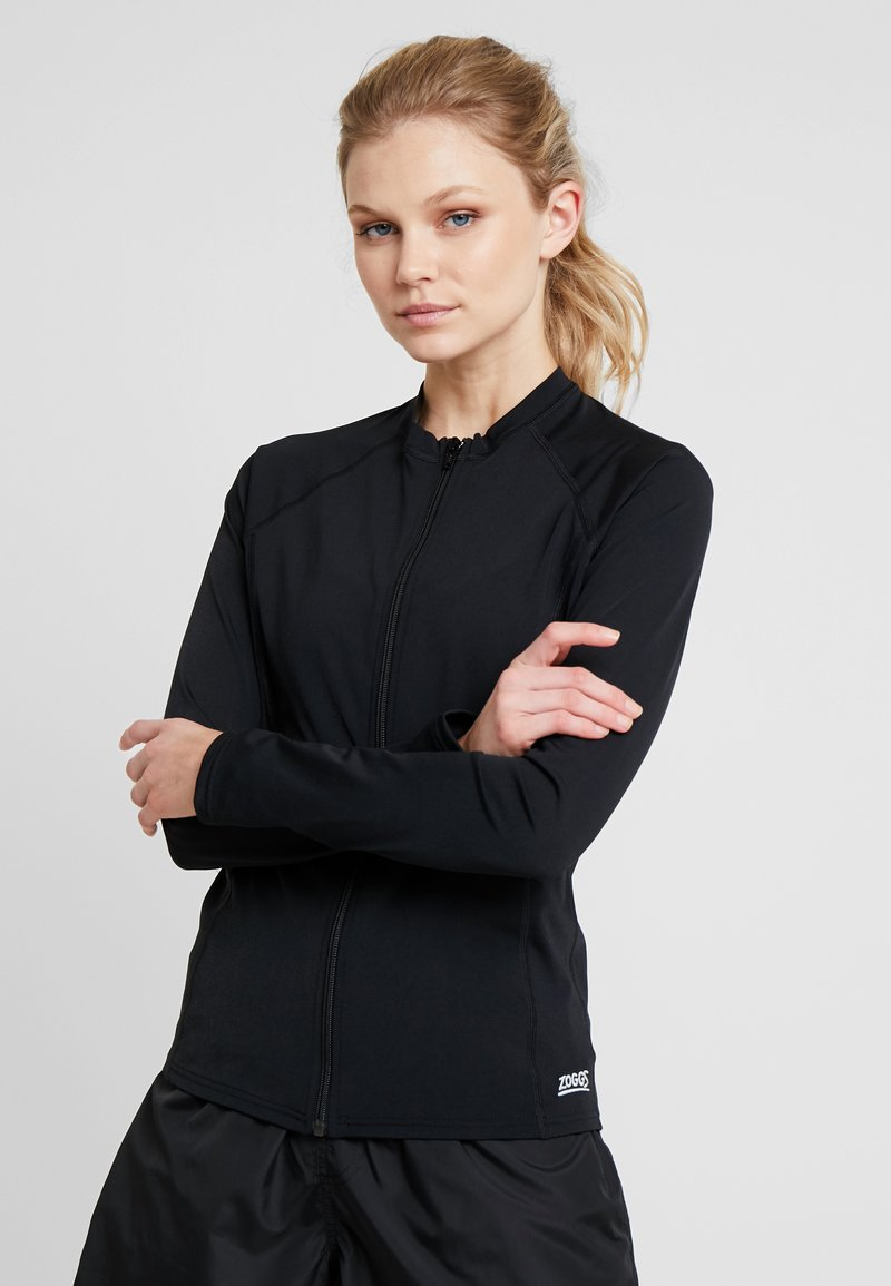 Zoggs - SUN LONG SLEEVED FULL ZIP - Nattlinne - black