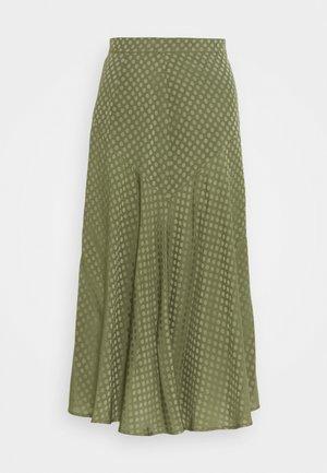 UCRAINA - Áčková sukně - khaki