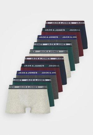 JACSOLID TRUNKS 10 PACK - Onderbroeken - dark grey melange/sea moss/port