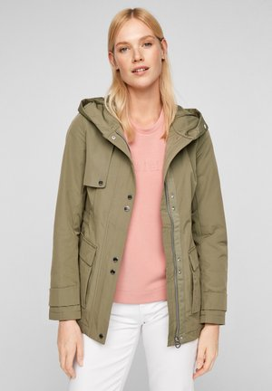 MIT NETZ-FUTTER - Waterproof jacket - light khaki