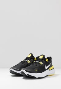Nike Performance - REACT MILER - Juoksukenkä/neutraalit - black/white/opti yellow/dark grey - 2