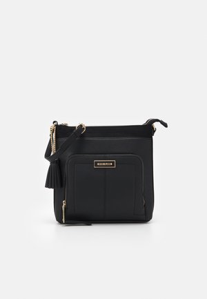 ZIP POCKET MESSENGER - Across body bag - black