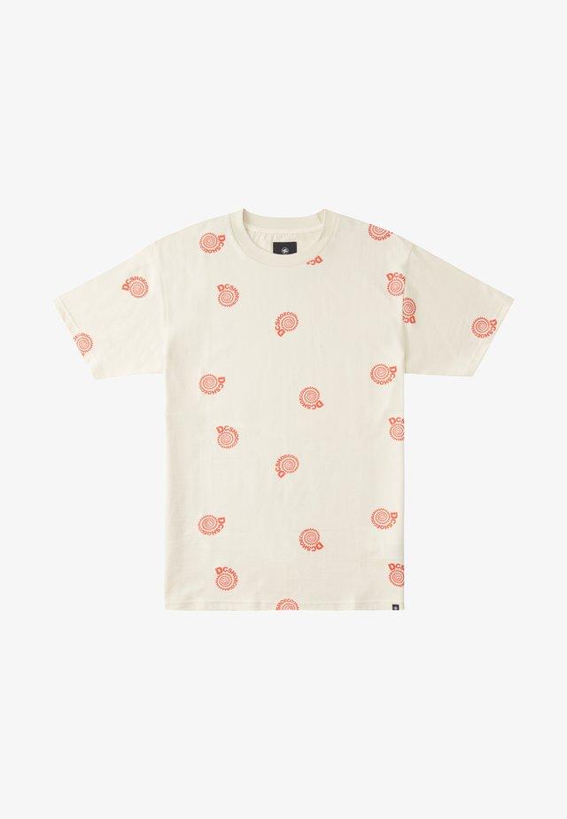UNRULY - T-shirt imprimé - antique white spiral
