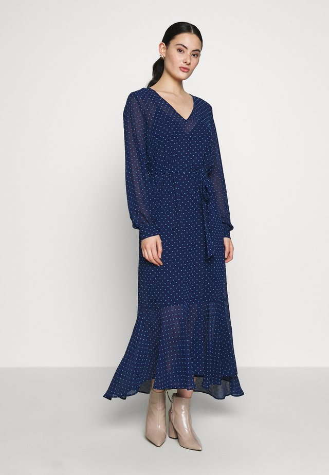 MILOU DRESS - Vestito lungo - dark denim