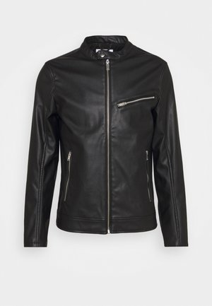 RIDER JACKET - Veste en similicuir - black