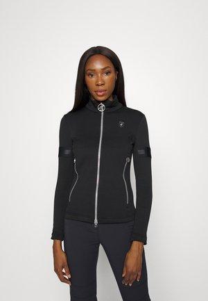 ROSIE - Sweater met rits - black