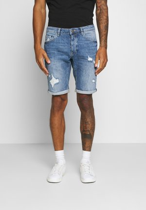 JASON - Denim shorts - blue denim