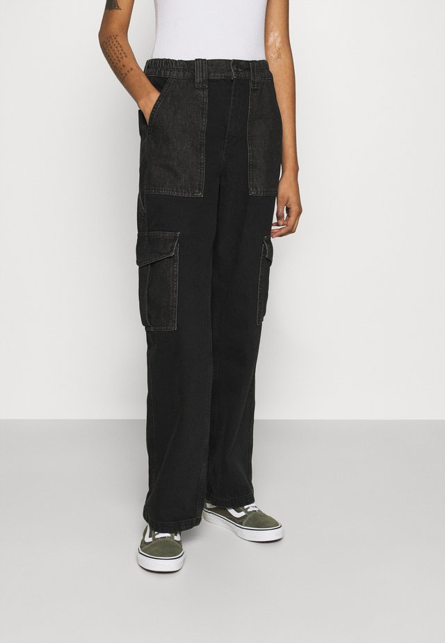 SKATE - Relaxed fit jeans - black/grey patchwork
