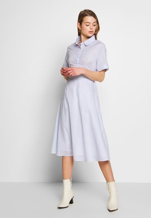 LADIES WOVEN DRESS - Vestido camisero - blue