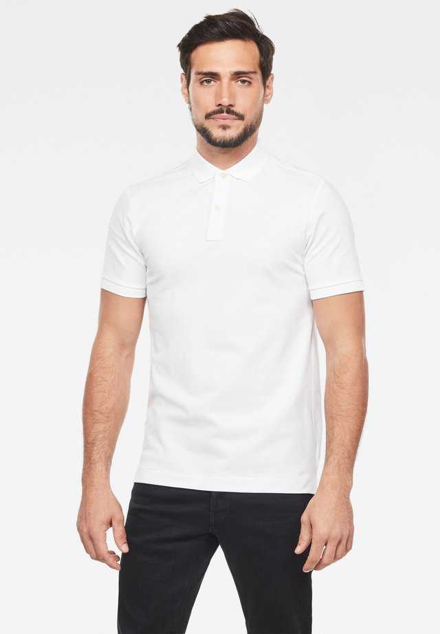 DUNDA SLIM - Polo - white