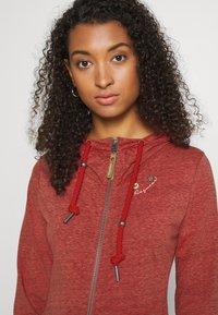 Ragwear - PAYA - Zip-up sweatshirt - red - 3