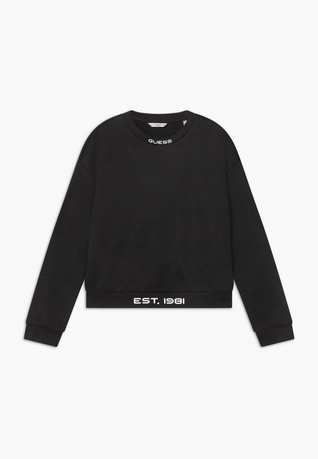 JUNIOR GLOW IN THE DARK - Sweatshirt - jet black