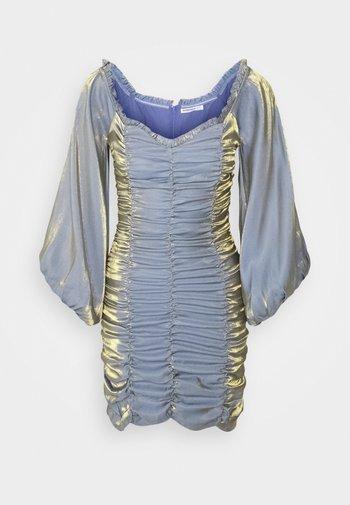 LADIES DRESS METALLIC - Cocktailkjole - blue/gold