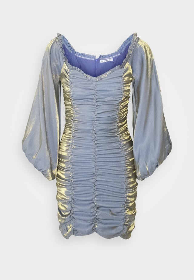 LADIES DRESS METALLIC - Juhlamekko - blue/gold