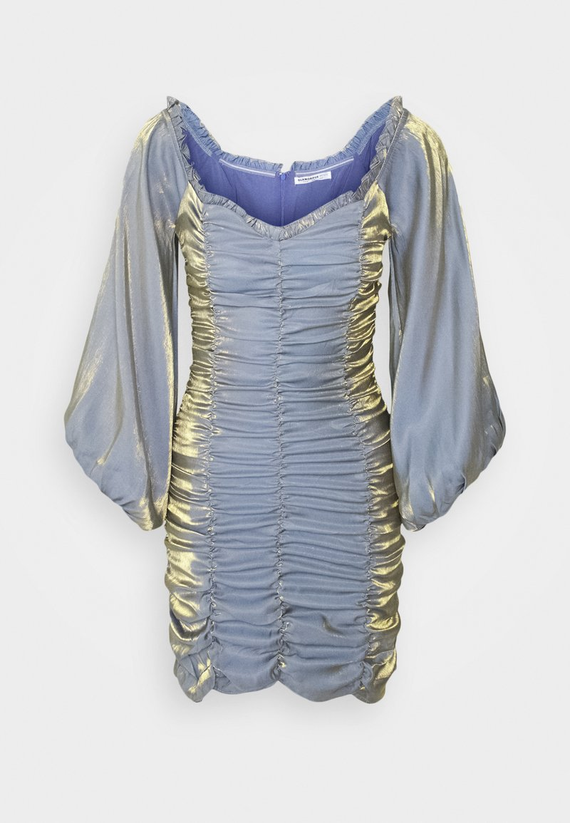 Glamorous Petite - LADIES DRESS METALLIC - Cocktail dress / Party dress - blue/gold
