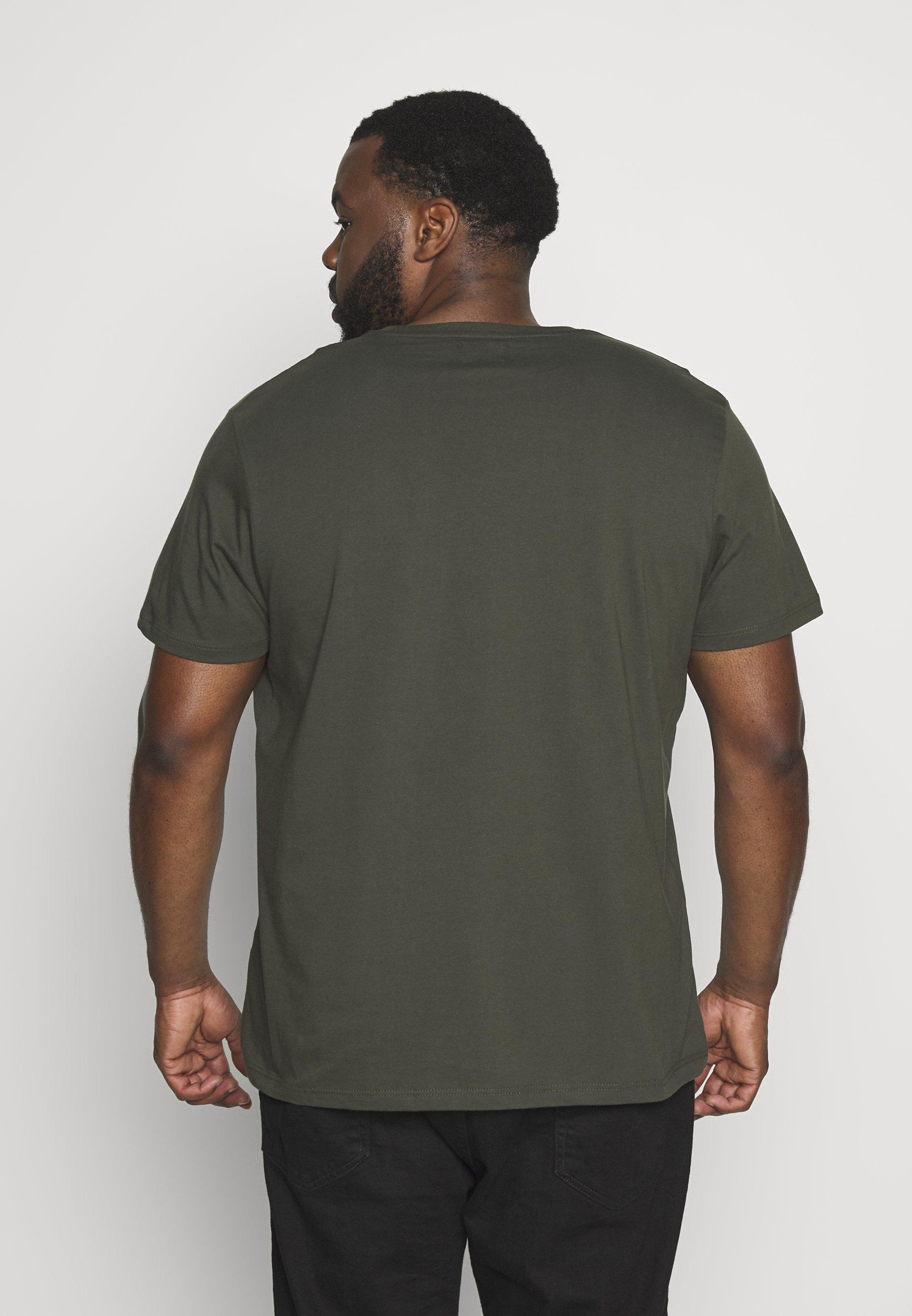 Topman CLASSIC 3 PACK - Basic T-shirt - white/khaki/tan xB1p5