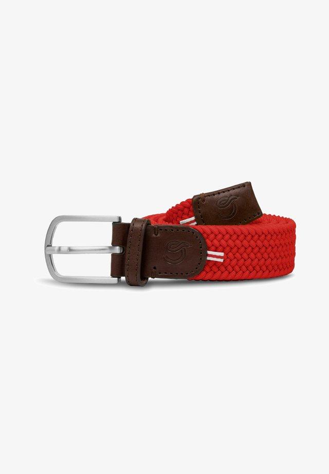 BRUSSELS - Braided belt - red