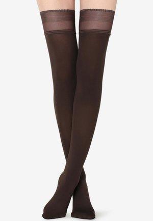 Over-the-knee socks - dark brown