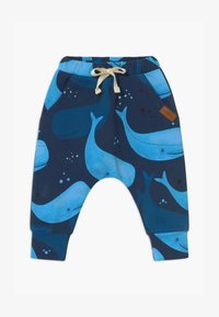 Walkiddy - BAGGY SMILING WHALES UNISEX - Pantalon classique - blue - 0