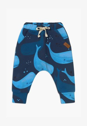 BAGGY SMILING WHALES UNISEX - Broek - blue