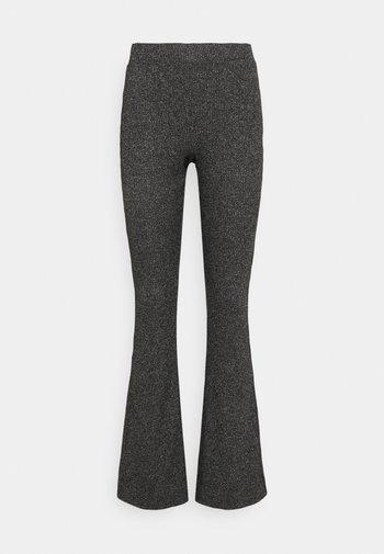 VMKAMMA FLARED ABBY PANT - Trousers - dark grey melange