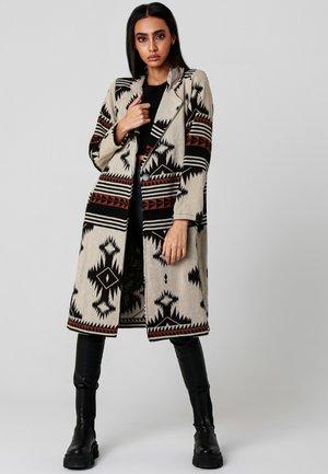 ADA - Classic coat - beige/schwarz