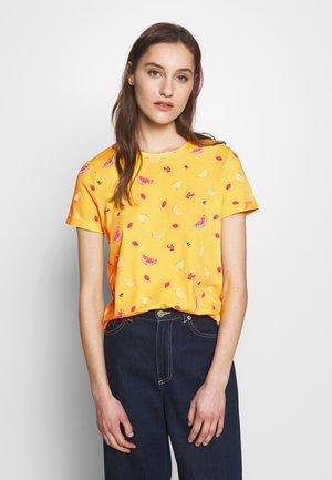 CREW NECK - T-shirt print - yellow