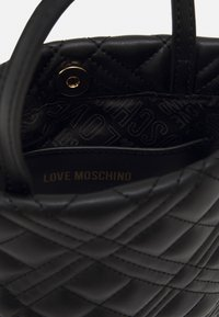 Love Moschino - QUILTED TOP HANDLE CROSSBODY - Across body bag - nero - 3
