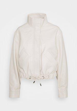LIGHTWEIGHT DRAWSTRING WAIST JACKET - Leather jacket - ecru