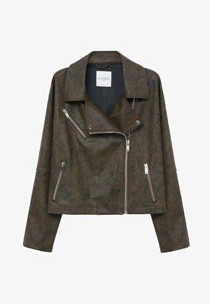 VINTAGE - Faux leather jacket - bruin