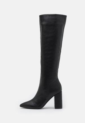 WIDE KNEE HIGH BOOT - Klassiska stövlar - black