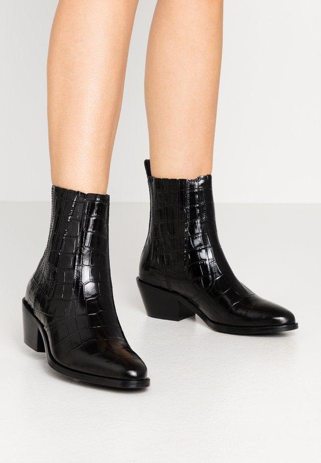 MIRIAM CROCO - Classic ankle boots - black
