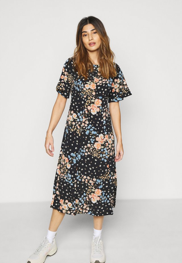 FLORAL EMPIRE DRESS - Hverdagskjoler - black