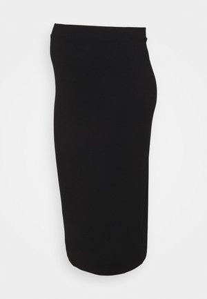 MATERNITY MIDI  - Pouzdrová sukně - black