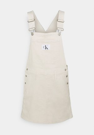 DUNGAREE DRESS - Dongerikjole - white