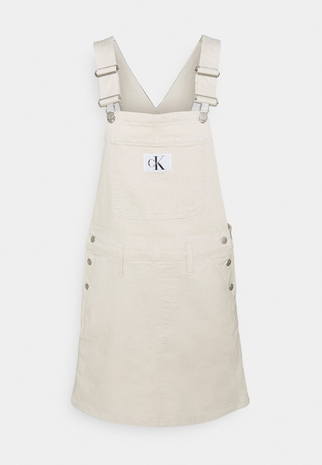 DUNGAREE DRESS - Spijkerjurk - white