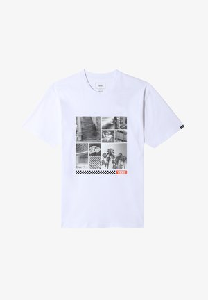 MN VANS BOX COLLAGE SS - Print T-shirt - white
