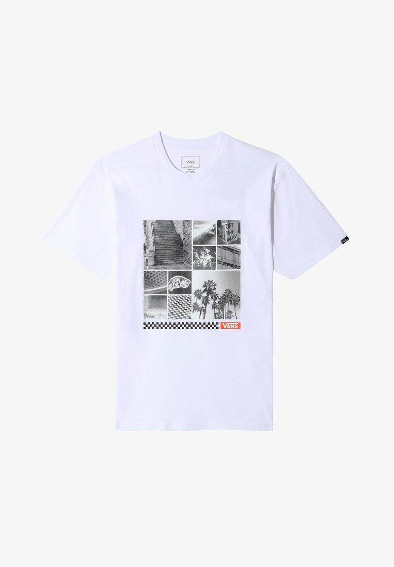 Vans - MN VANS BOX COLLAGE SS - Print T-shirt - white