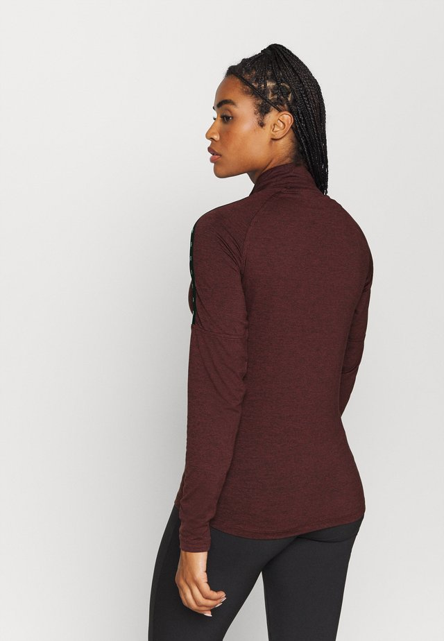 KAHN ZIP NECK - T-shirt à manches longues - blackberry