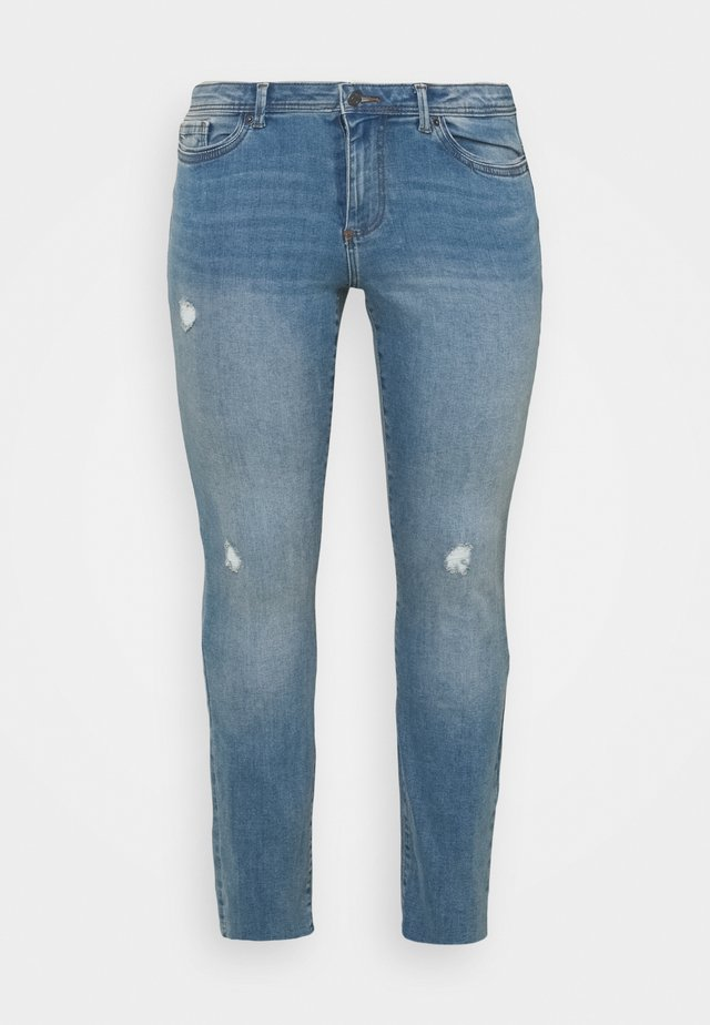 VMMANYADINA CROPPED - Skinny džíny - medium blue denim