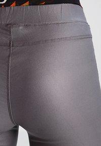 Kaffe - ADA COATED - Leggings - Trousers - dark dull grey - 4