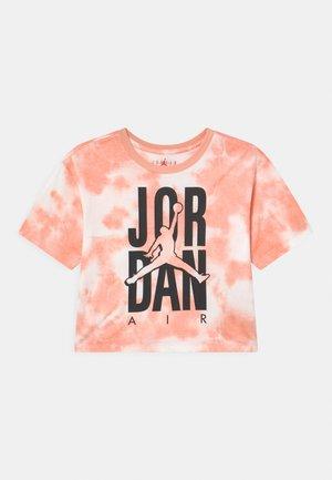 GIRL TIE DYE BOXY - Print T-shirt - arctic orange