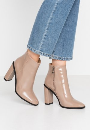 DYLAN - High heeled ankle boots - beige