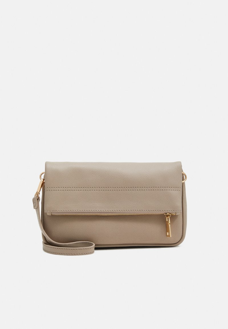 Zign - LEATHER - Across body bag - taupe