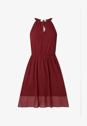 AUS KREPP MIT CUT OUT - Cocktail dress / Party dress - bordeaux rot