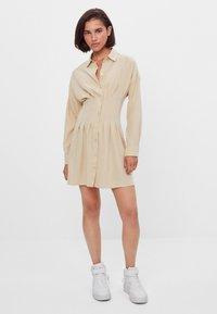 Bershka - Shirt dress - beige - 1