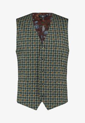 Suit waistcoat - cream/charcoal