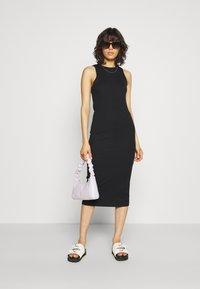 Vero Moda - VMLAVENDER CALF DRESS - Shift dress - black - 1