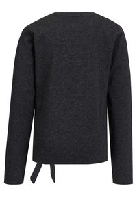 WE Fashion - MET PAILLETTEN EN KNOOPDETAIL - Longsleeve - dark grey - 1