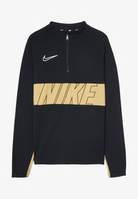 Nike Performance - DRY ACADEMY DRIL  - Sports shirt - black/gold/white - 3